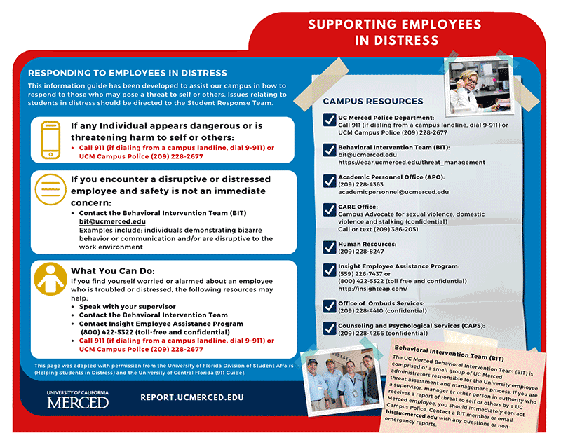 Flyer for Supporting Employees in Distress